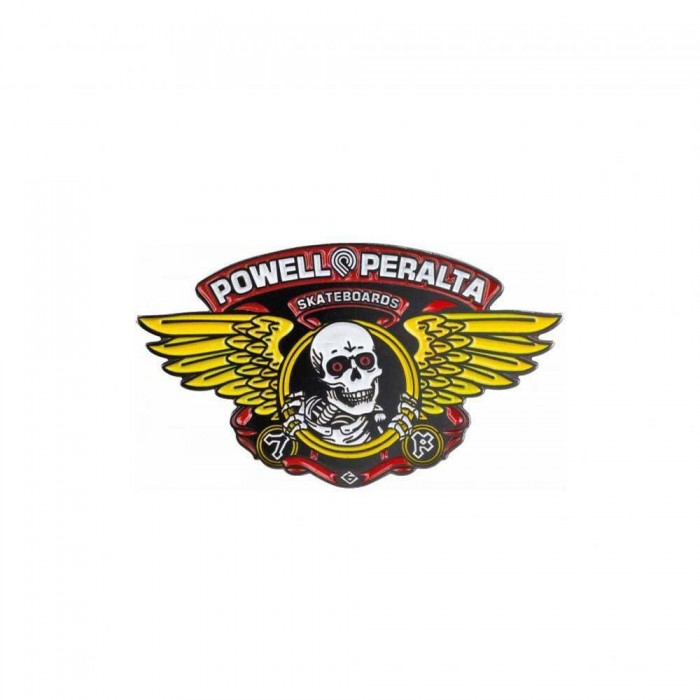 Powell Peralta Winged Ripper Lapel Pin Bagde Yellow Red