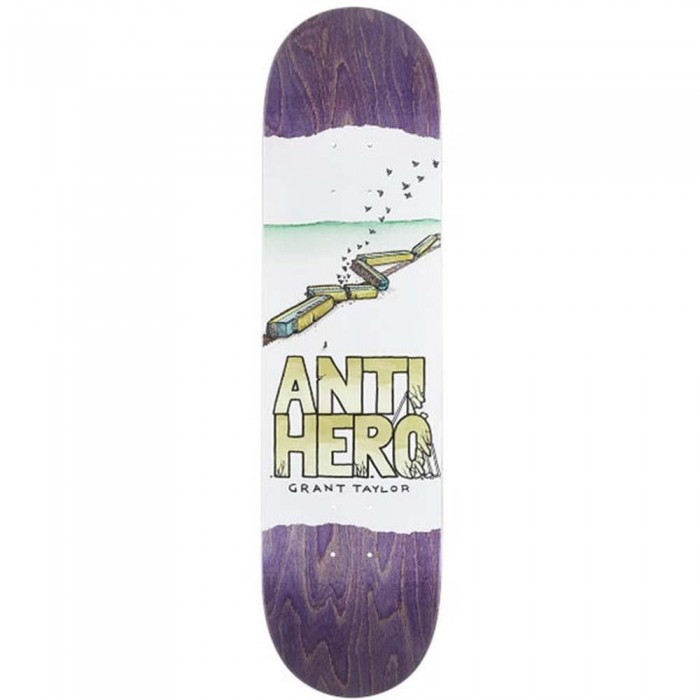 Anti Hero Grant Expresisons Skateboard Deck White 8.38""