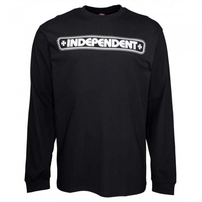 Independent Truck Co Rebar Cross Long Sleeved T-Shirt Black