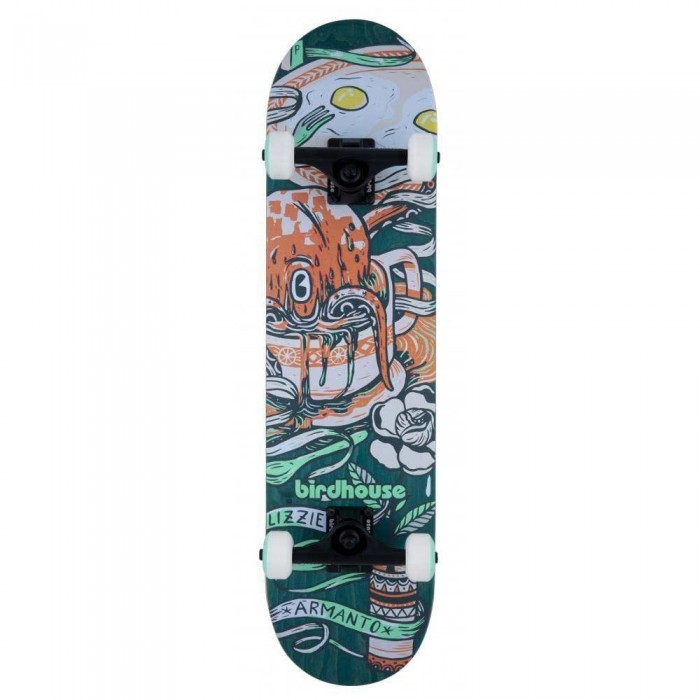 """Birdhouse Stage 3 Armanto Favorites Factory Complete Skateboard Green 7.75"""""""