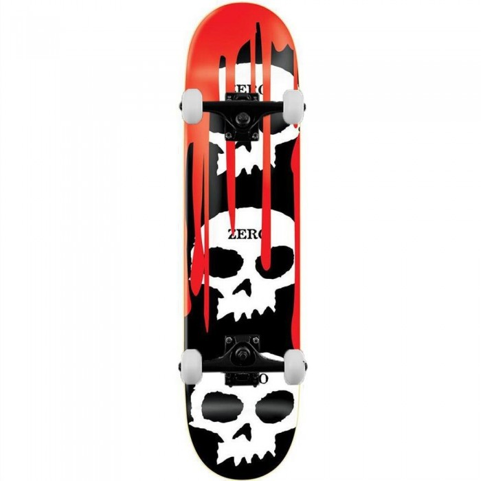 Zero Skateboards 3 Skull Blood Complete Skateboard Multi 8""