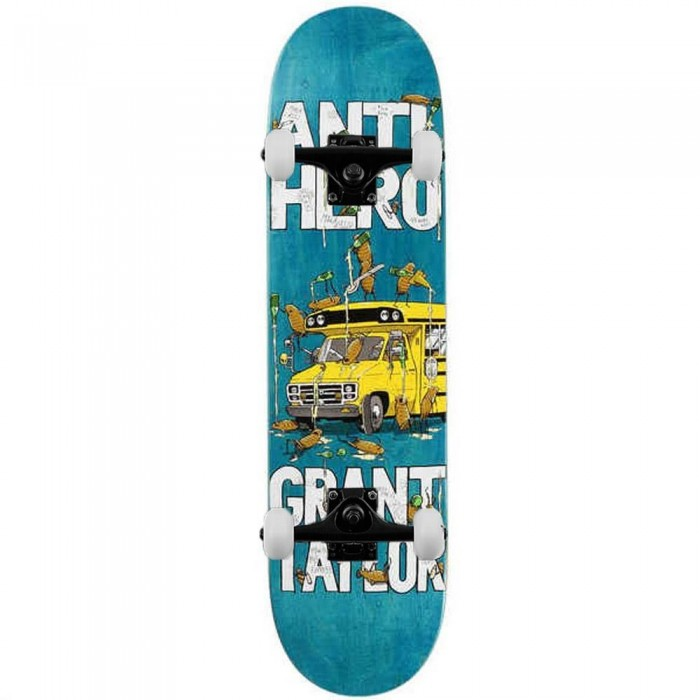 Anti Hero Taylor Maka Bus Complete Skateboard Yellow White 8.06""