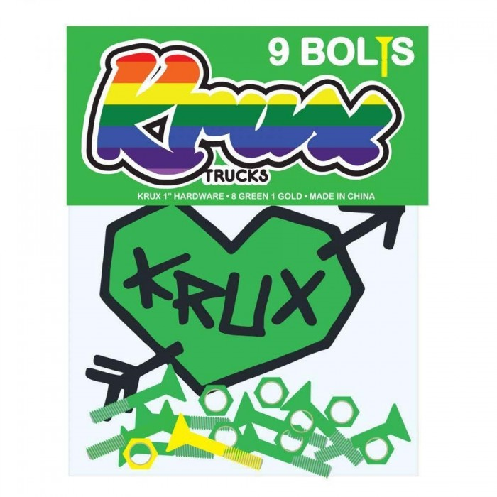Krux Krome Phillips Hardware Skateboard Bolts Green 1""
