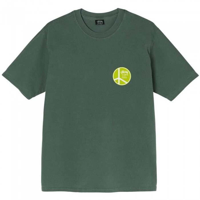 Stussy Peace Dot Pigment Dyed T-Shirt Pine
