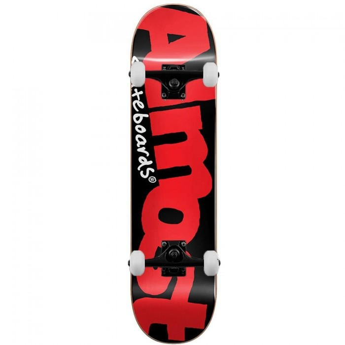 Almost Skateboards Color Logo Complete Skateboard Black Red 8.125""