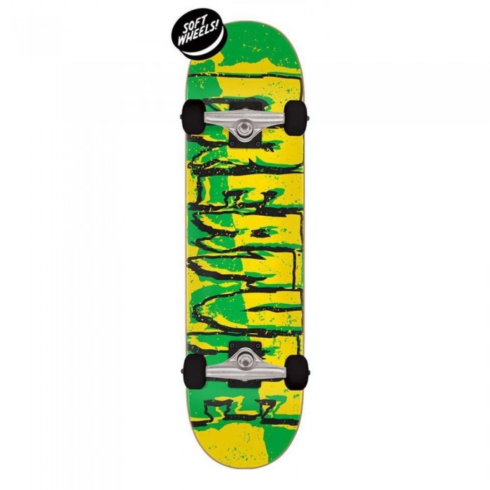 """Creature Ripped Logo Micro Factory Complete Skateboard Green Yellow 7.5"""""""