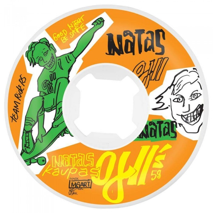 OJ Natas 2 Original Hardline Skateboard Wheels 95a Orange 58mm