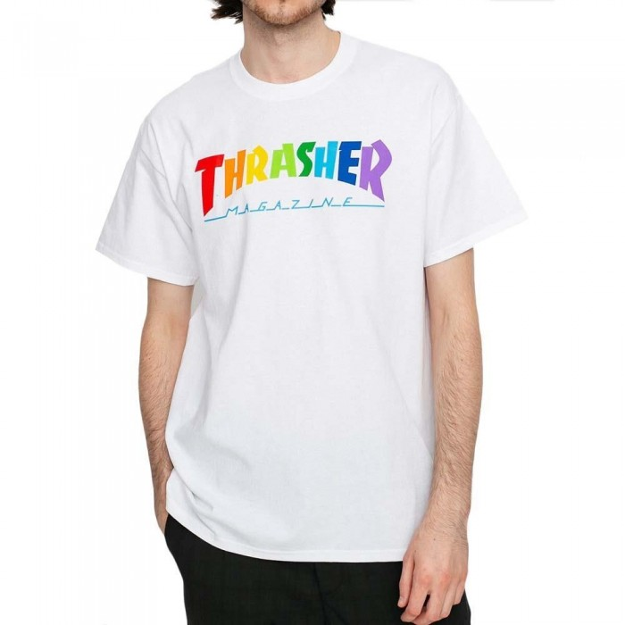 Thrasher Magazine Rainbow Mag T-Shirt White
