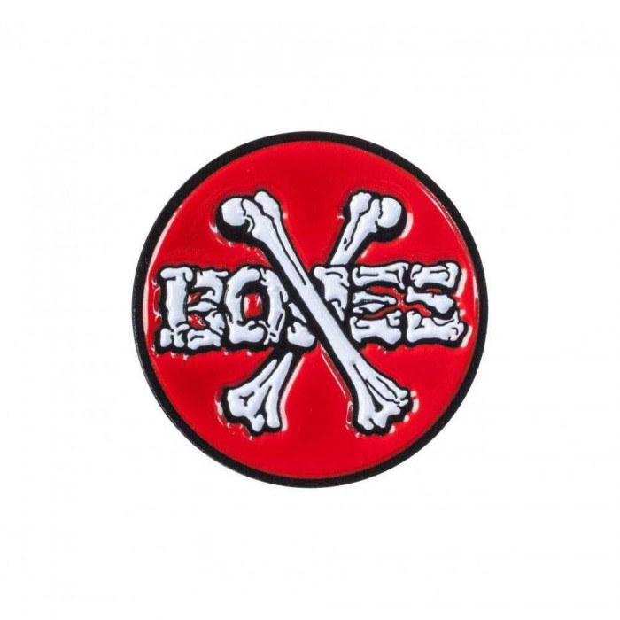Powell Peralta Cross Bones Lapel Pin Badge Red White
