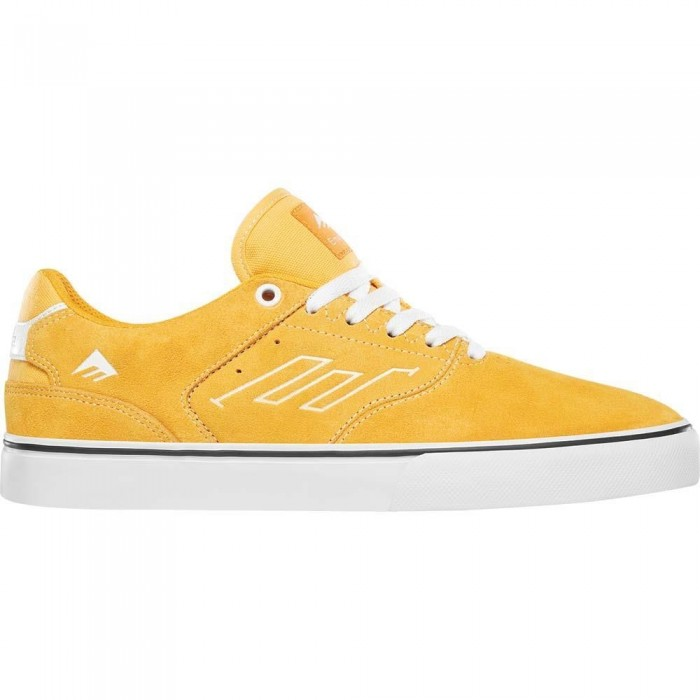 Emerica Footwear The Low Vulc Yellow White Skate Shoes