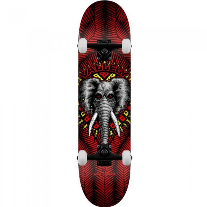 """Powell Peralta PP Deck Vallely Elephant Shape 2 Red Complete Skateboard 8.25"""""""