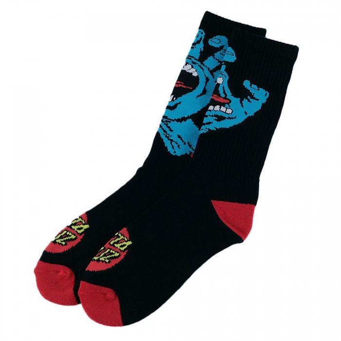 Santa Cruz Screaming Hand Socks Black