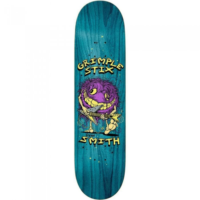 Anti Hero Grimple Evan Family Band Skateboard Deck Yellow 8.5""