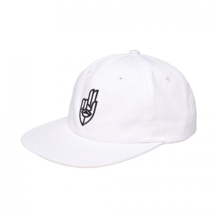 Jetlag Brothers Two Finger Salute Strapback Hat White