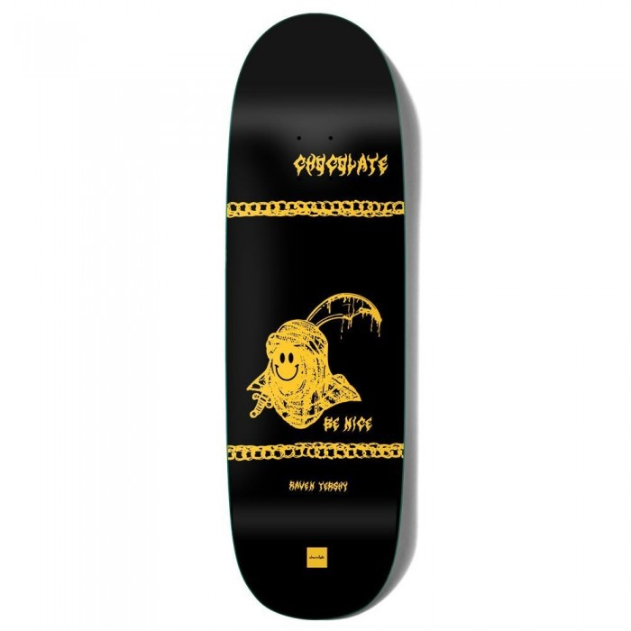 """Chocolate Tershy Be Nice Skateboard Deck Couch Black 9.25"""""""
