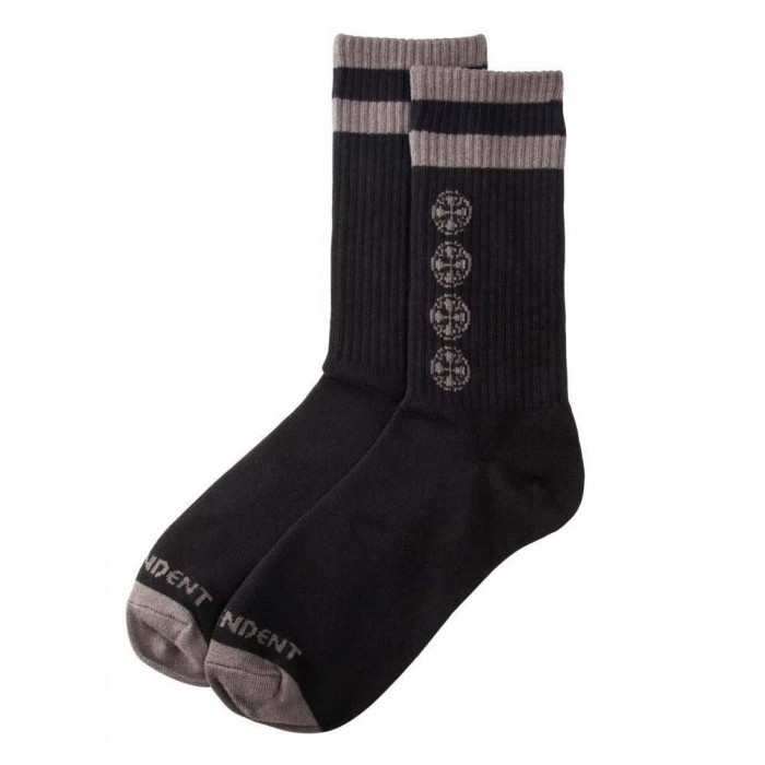 Independent Truck Co Chain Cross Socks Black One Size Adult