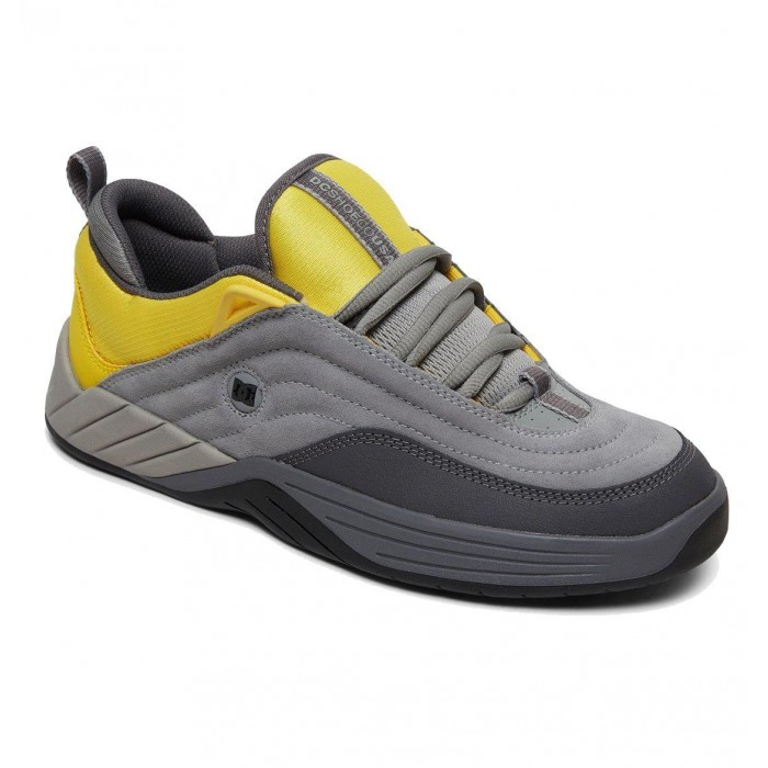 DC Shoe Co Williams Slim Grey Yellow Skate Shoes