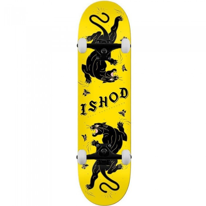 Real Ishod Cat-Scratch TT Complete Skateboard Yellow Black 8.25""