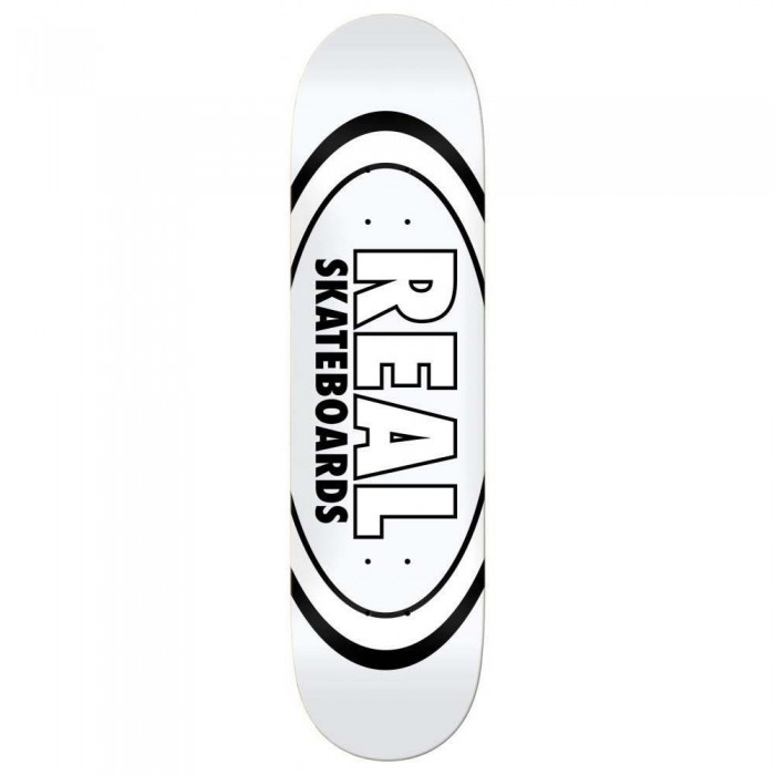 """Real Team Classic Oval Skateboard Deck White 8.38"""""""