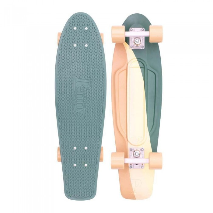 "Penny Cruiser  Complete Skateboard 27"" Swirl Green & Yellow"