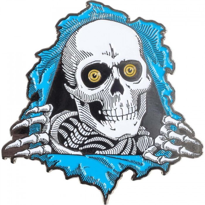Powell Peralta Pin Badge Ripper Blue 3 Blue