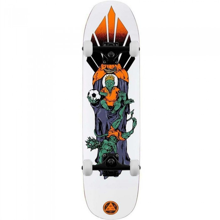 """Welcome Futbol on Son of Moontrimmer Complete Skateboard White 8.25"""""""