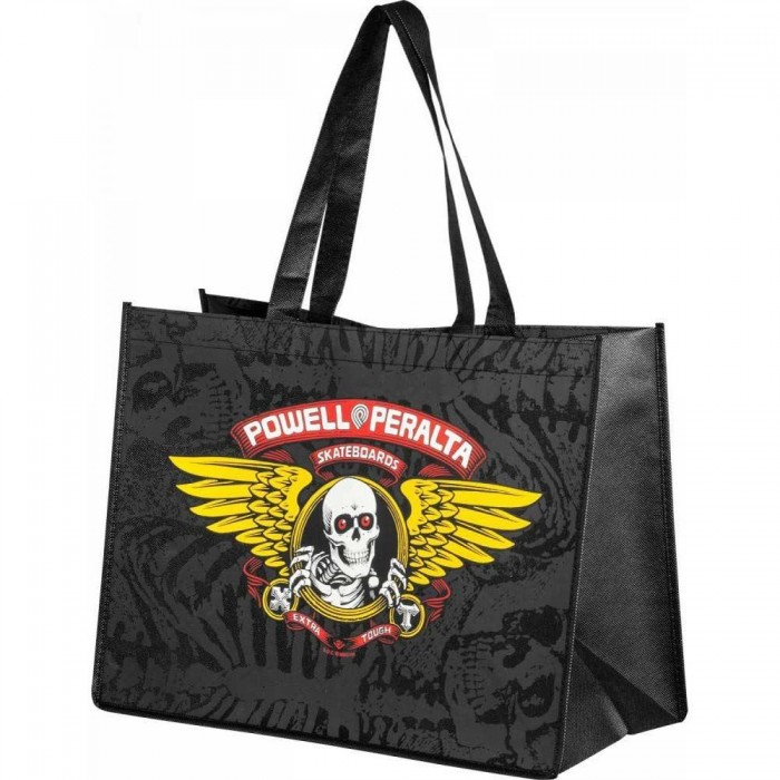 Powell Peralta Bag Winged Ripper Shopping Bag Black