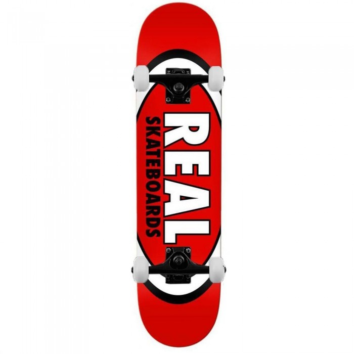 """Real Team Classic Oval Complete Skateboard Red 8.12"""""""