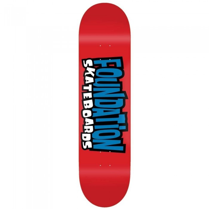 Foundation From the 90's Skateboard Deck Red 8""