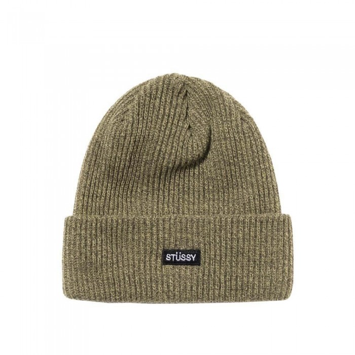 Stussy Small Patch Watchcap Beanie Hat Olive
