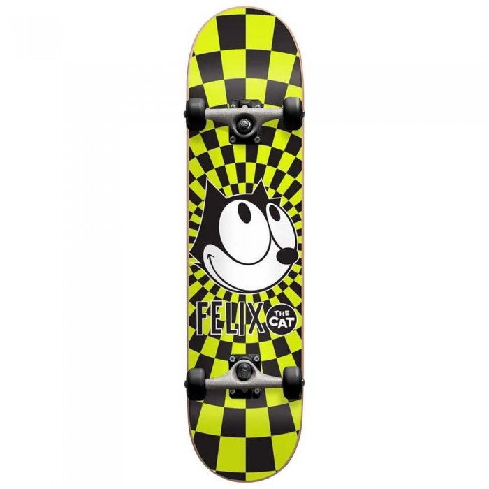 Darkstar Felix Radiate Youth Factory Complete Skateboard Black Yellow 7.375""