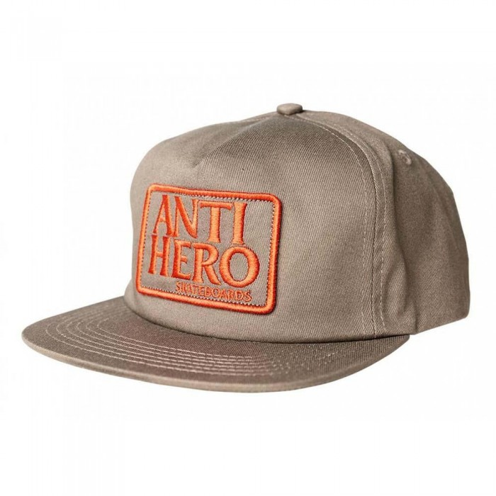 Anti Hero Reserve Patch Snapback Hat Brown Red