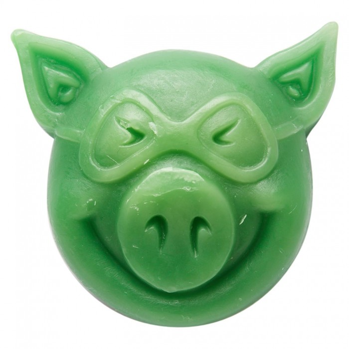 Pig Head Skateboard Wax Green