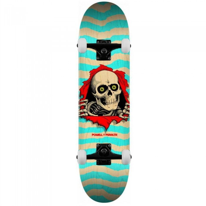 """Powell Peralta Ripper Complete Skateboard Shape 242 Natural Turquoise 8"""""""