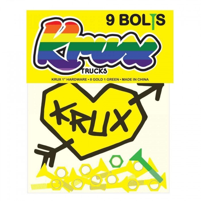 Krux Krome Phillips Hardware Skateboard Bolts Gold 1""