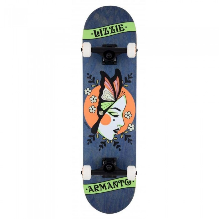 """Birdhouse Stage 3 Armanto Butterfly Factory Complete Skateboard Blue 8"""""""