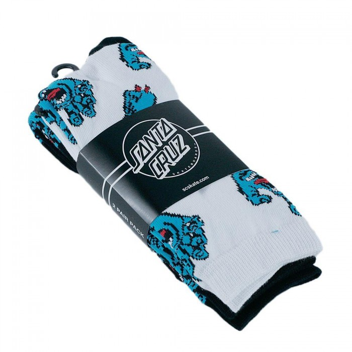Santa Cruz Multi Hand Socks 2 Pack Assorted Colours