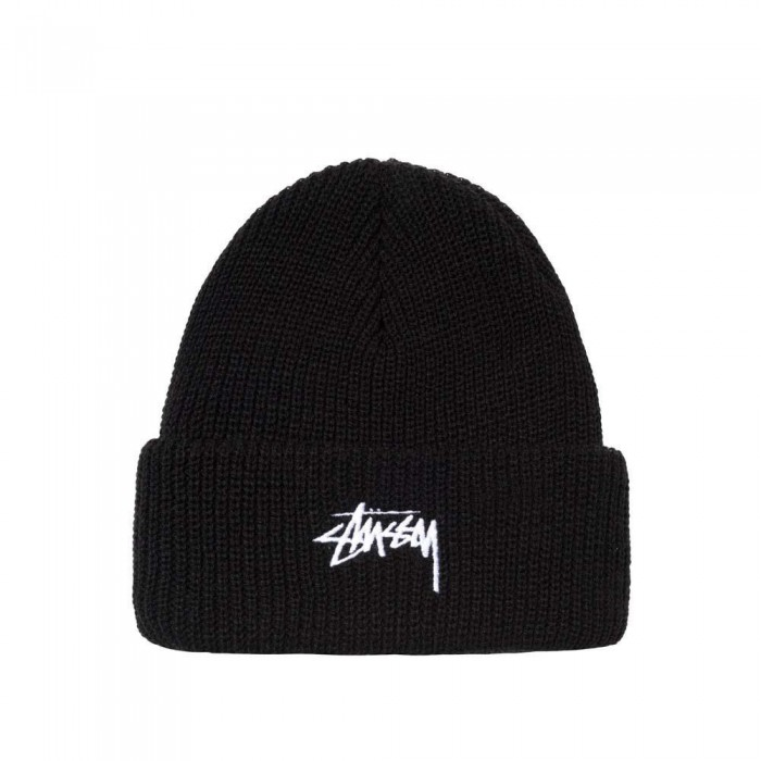 Stussy Stock Cuff Beanie Hat Fall 20 Black
