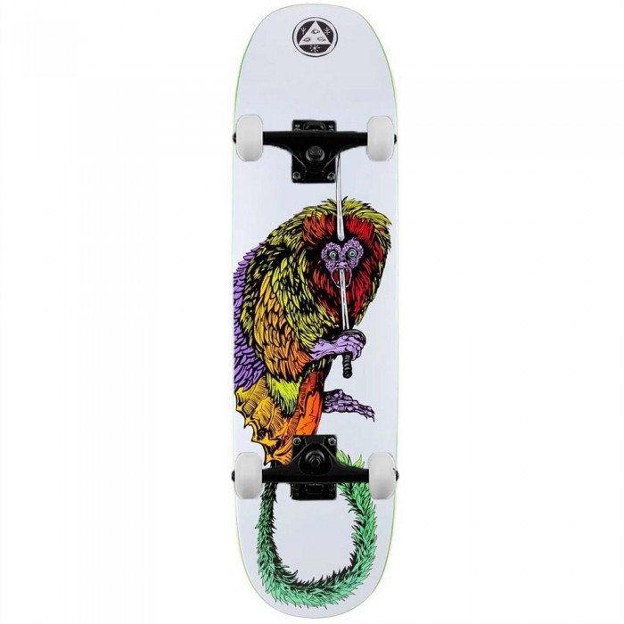 """Welcome Tamarin Complete Skateboard Moontrimmer 2.0 White 8.5"""""""