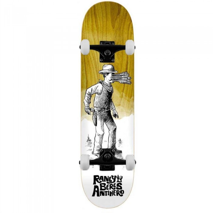 """Anti Hero Raney How The West Complete Skateboard Various Wood Stains 8.25"""""""
