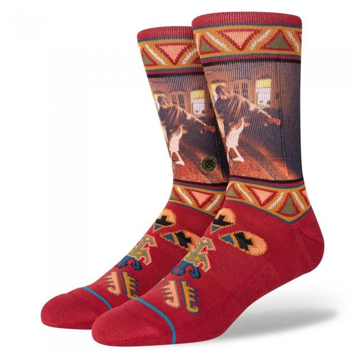Stance Socks The Big Lebowski Really Tied Red Large