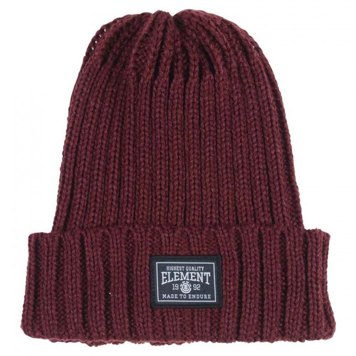 Element Counter Beanie Hat Port Red