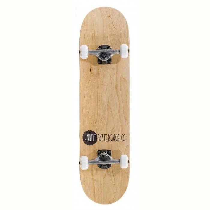 """Enuff Logo Stain Factory Complete Skateboard Natural 8"""""""