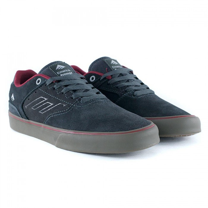 Emerica Footwear Reynolds Low Vulc Dark Grey Red