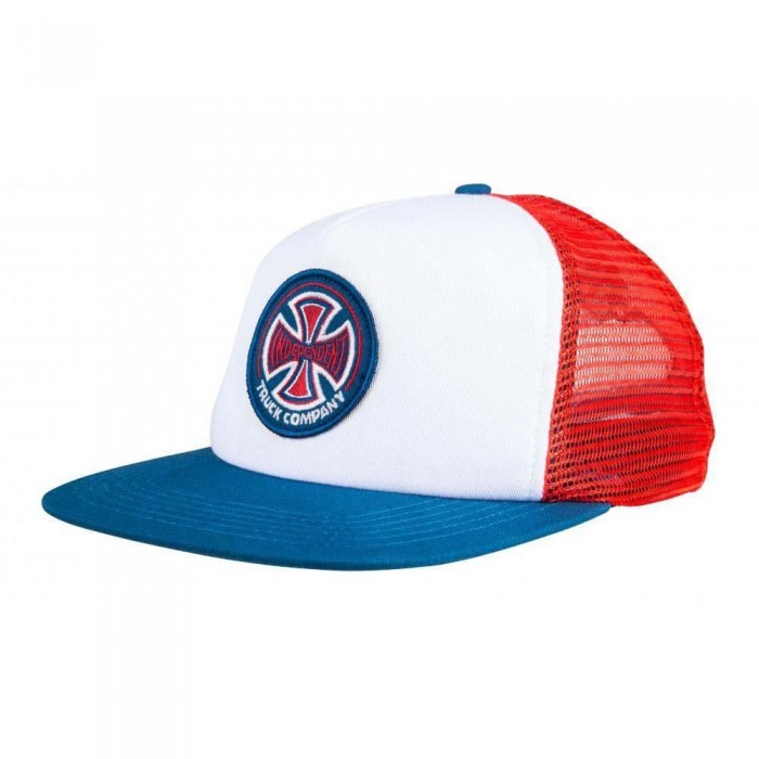 Independent Truck Co 78 Cross Meshback Hat Red White Blue