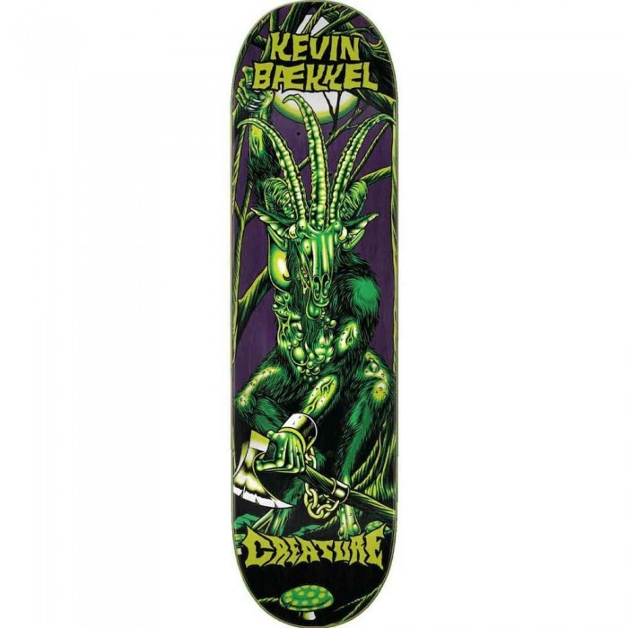 Creature Baekkel Swamp Lurker Skateboard Deck Green 8.60""