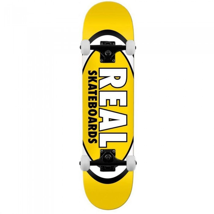 """Real Team Classic Oval Complete Skateboard Yellow 8.06"""""""