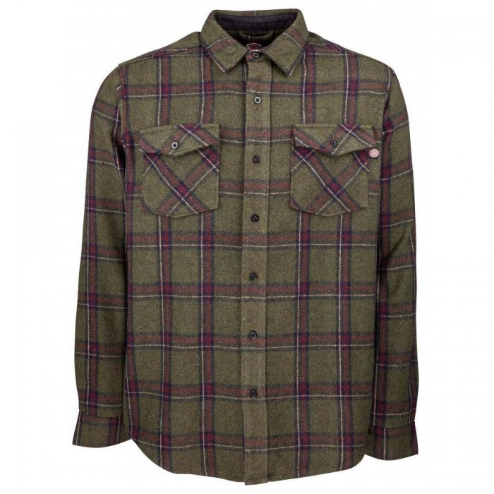 Independent Chainsaw Military Plaid Shirt Grey