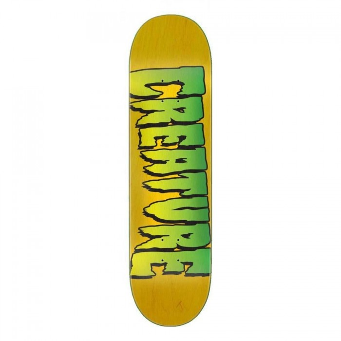 Creature Logo Stump 1 Skateboard Deck Yellow 8""