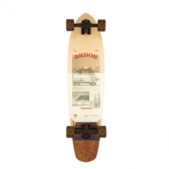 """Arbor Photo Mission Performance Factory Complete Skateboard Multi 35"""""""